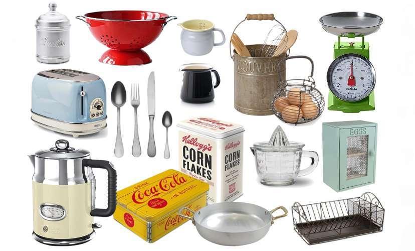 La cucina vintage accessori utili e belli per chi ama lo for Oggetti vintage per casa
