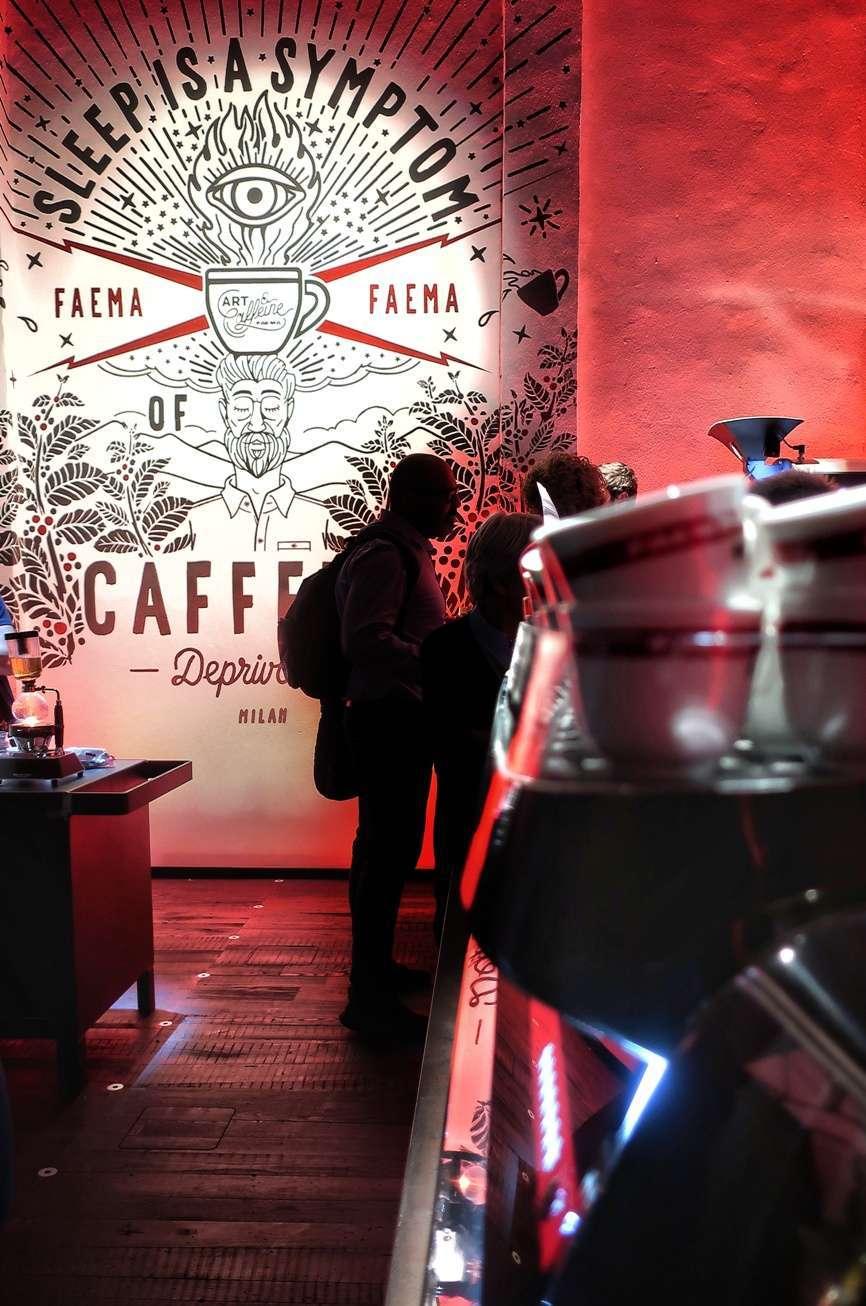 Art & Caffeine di Faema a Milano